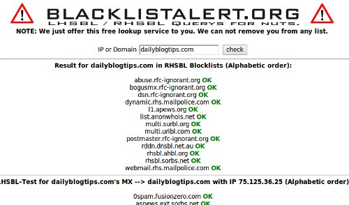 How to find out if i am blacklisted