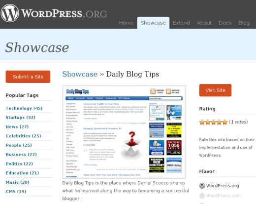 daily blog tips showcase