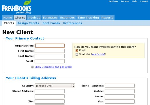 Freshbooks  Color Options