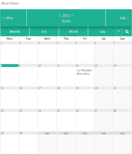 wordpress calendar plugin
